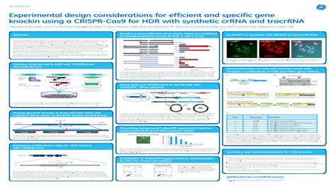 experimental design considerations eposters poster directory