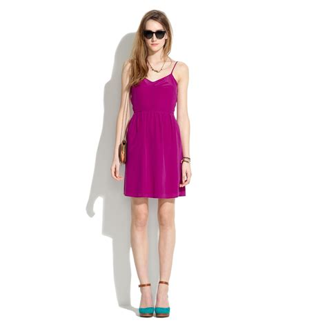 Dress Of The Day Silk Cami Dress by Madewell Silk Cami Dress In Purple Lyst