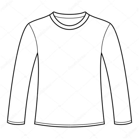 long sleeved t shirt template stock vector 169 nikolae