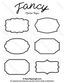 Fancy Label Templates by Free Printable Fancy Name Tags The Template Can Also Be