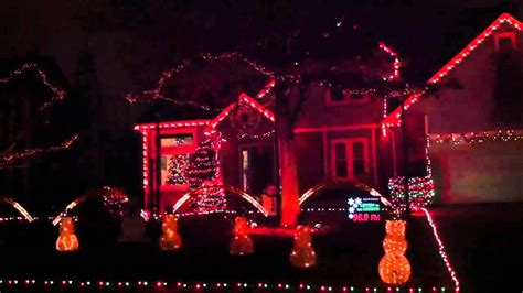 synchronized christmas lights in lawrence kansas youtube