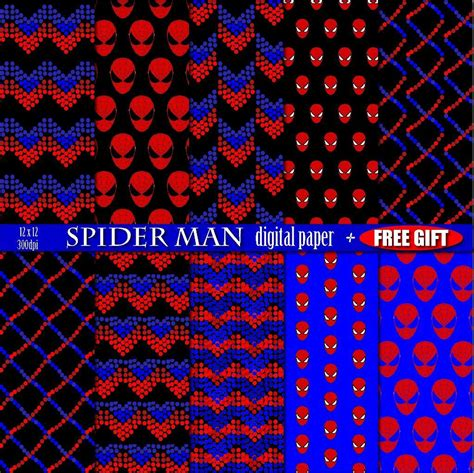 spiderman pattern design 8 digital paper spiderman birthday party by sheene cocole