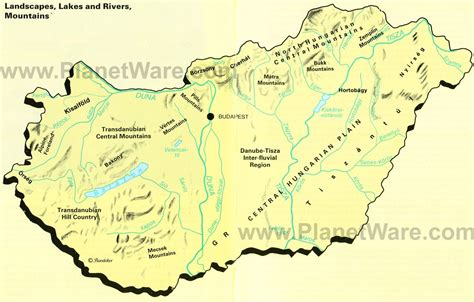 us map of rivers lakes and mountains map of hungary landscapes lakes and rivers mountains
