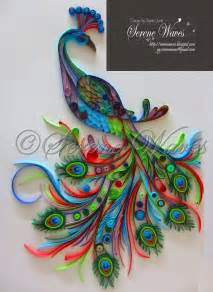 Paper Quilling Craft Ideas - project mayur a beautiful peacock that took me