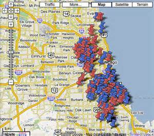 Map Of Chicago Shootings 2013 by Shootings In Chicago Map