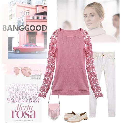 Sleeve Stitching Top buy stitching lace sleeve crochet blouse pink stitching
