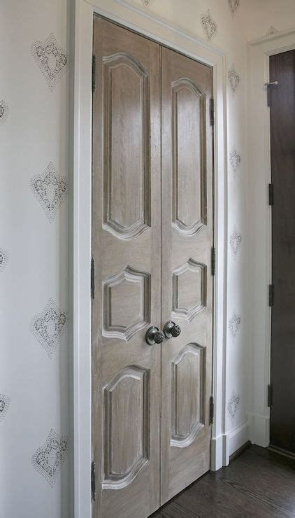 Foyer Closet Doors Bi Fold Bathroom Doors With Brass Door Knobs Transitional Bathroom