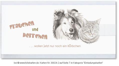 Hochzeitseinladung Hund by Hund Einladungskarten