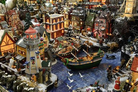 images of christmas village displays harbor christmas village displays pinterest