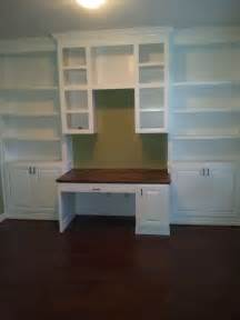 Office Desk Shelves Made Home Office Book Shelves And Desk By Rockytop Woodworks Custommade