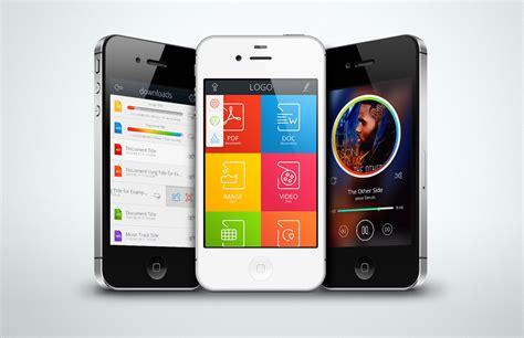 design mobile application free file manager app kit free psd psdexplorer