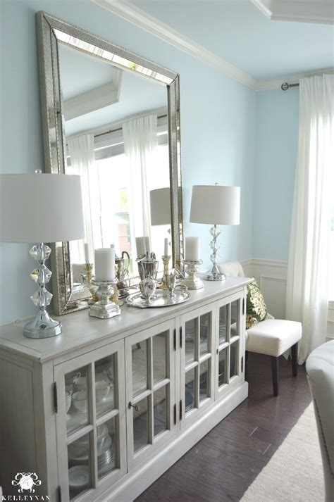 white mirrored buffet cabinet dining room update vertical vs horizontal buffet mirror