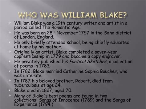 themes of london by blake william blake the chimney sweeper year 7 lesson