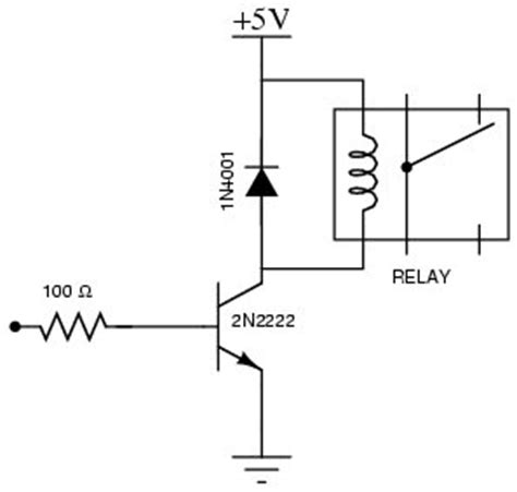 transistor relay driver circuit gadget ii
