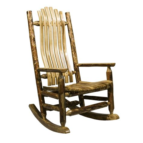 montana woodworks mwgclr glacier country log rocking chair