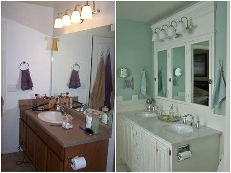 bathroom makeovers before and after remodelaholic rustic bathroom makeover with board and
