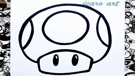 Imagenes Faciles Para Dibujar De Mario | como dibujar un hongo de mario bros how to draw