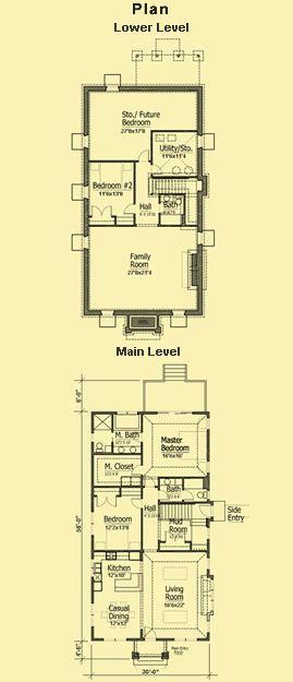 shallow house plans narrow house plans house affair