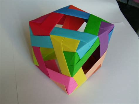 Make Origami Cube - window cube modular origami