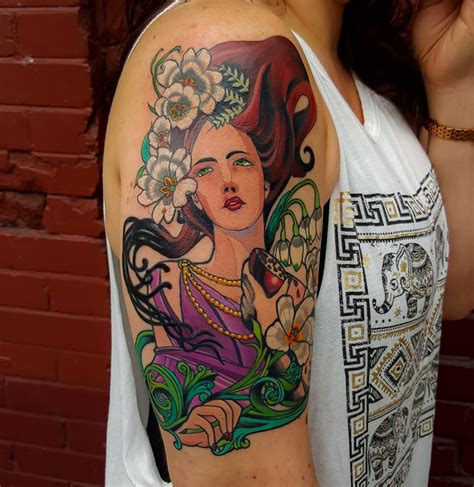 persephone tattoo persephone by adam sky gold s san