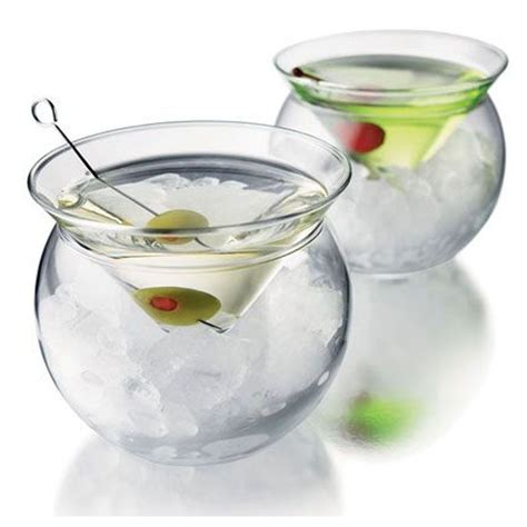 stemless martini glasses with chilling bowls pahar chiller martini 150ml