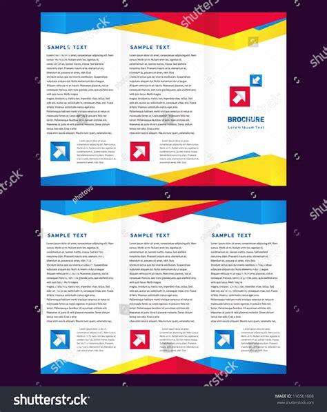 creative brochure design templates creative design vector brochure trifold layout stock