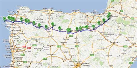 el camino pilgrimage map a map of camino de santiago a st jean pied de port s