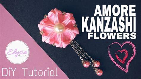 tutorial buket bunga handmade amore kanzashi flower tutorial bros bunga kanzashi diy