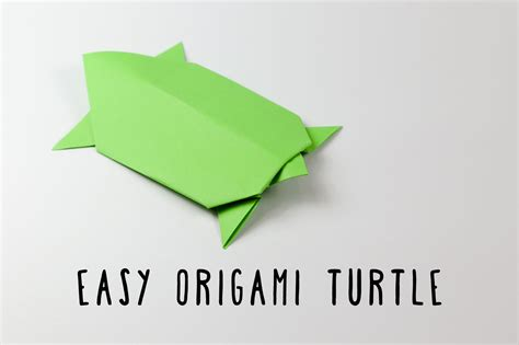 Origami Turtle Easy - easy traditional origami turtle