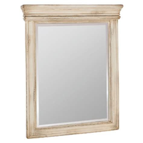 Antique White Bathroom Mirror Shop Estate By Rsi Vintage 27 In W X 33 In H Antiqued White Rectangular Bathroom Mirror At Lowes