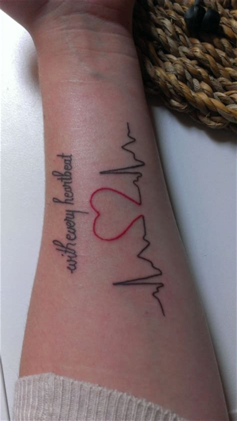 tattoo with every heartbeat meaning alice with every heartbeat