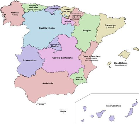 map of spain and regions map of italy regions and cities images