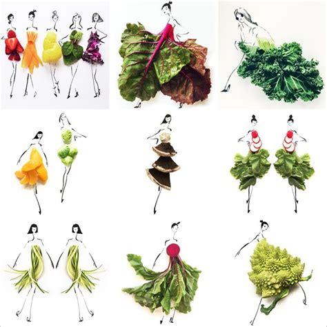 Timbangan Sayuran Dan Buah2an Mini 1 keren seniman ini bikin desain pakaian dari buah dan sayuran