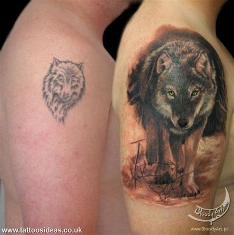 tattoo fixers wolf tattoo cover up of wolf shoulder wolf tattoo pinterest