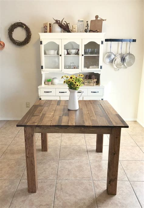 square farmhouse dining table white square farmhouse table diy projects