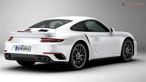 Porsche 911 Turbo S 2017 3d Model Buy Porsche 911 Turbo