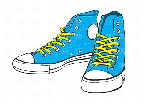 blue sneakers with yellow lace 4538 fashion