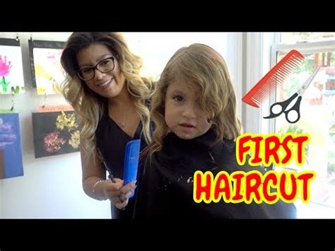 lilias first haircut youtube very first haircut ever youtube