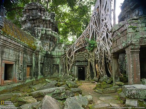 forgotten places ta prohm ruins photo travel wallpaper national
