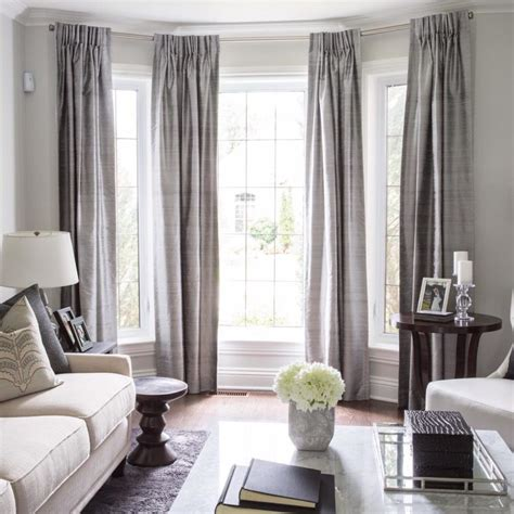 Curtains For Floor To Ceiling Windows Decor 50 Cool Bay Window Decorating Ideas Shelterness