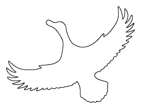 printable duck stencils flying duck pattern use the printable outline for crafts