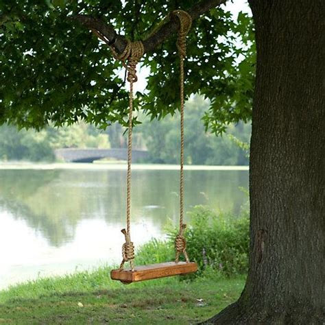 how to make a single rope tree swing reclaimed wood rope tree swing
