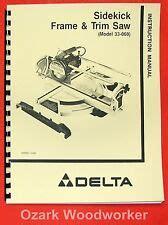 Delta Sawbuck Ii Frame And Trim Saw 33 055 Ebay