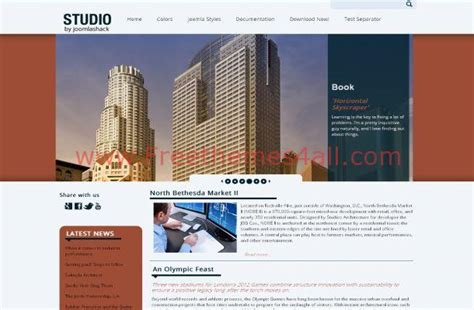 studio business jquery free joomla theme