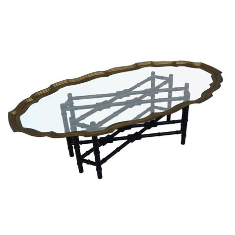 faux bamboo table l baker faux bamboo coffee table for sale at 1stdibs