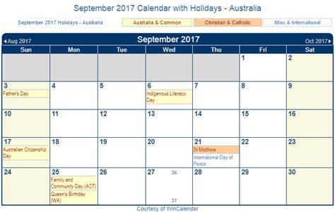 printable calendar september 2017 australia print friendly september 2017 australia calendar for printing