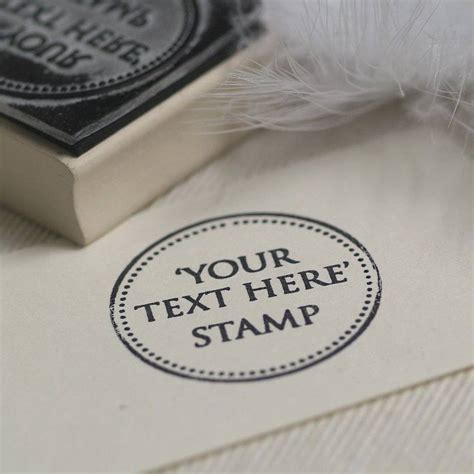personalised rubber st uk personalised your own text rubber st by beautiful day