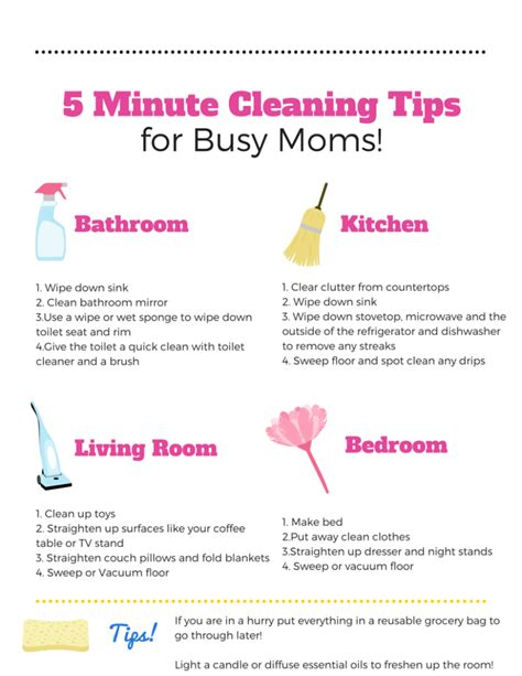 Housekeeping Tips | 5 minute cleaning tips for busy moms nepa mom