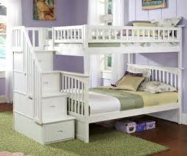 staircase bunk bed columbia staircase bunk bed white bedroom