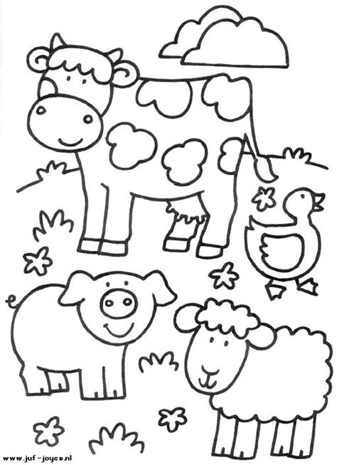 coloring page of farm animals animales de granja dibujos para colorear coloring